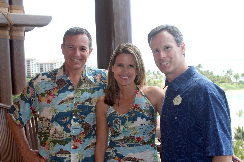 Bob Iger, CEO Walt Disney Company, Tom Staggs, President of Disney Parks and me at the opening of Aulani Resort